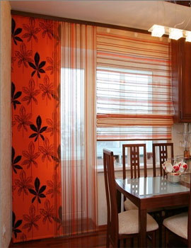 Дизайн штор для окна с балконной дверью